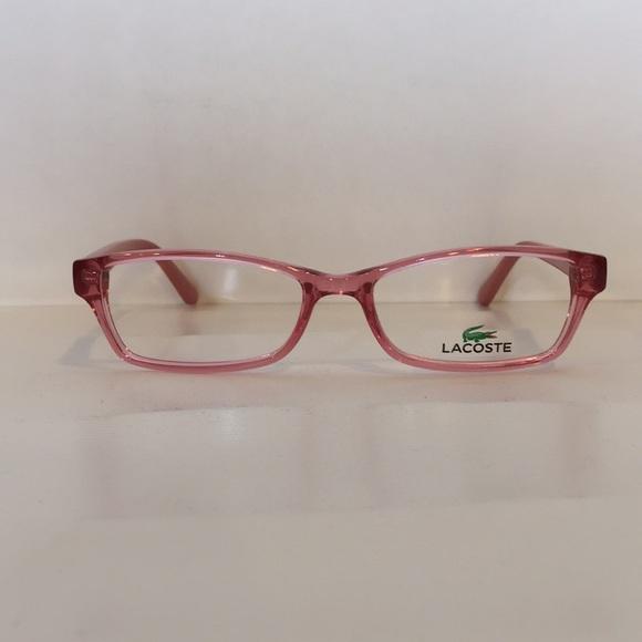 8c27fcbc89b Lacoste L3608 662 crystal Pink Plastic Eyeglasses